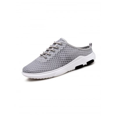 Summer Mesh Lace Up Men Slippers ShoesCasual Shoes<br>Summer Mesh Lace Up Men Slippers Shoes<br><br>Contents: 1 x Pair of Shoes<br>Materials: Mesh, Rubber<br>Occasion: Casual<br>Package Size ( L x W x H ): 33.00 x 18.00 x 12.00 cm / 12.99 x 7.09 x 4.72 inches<br>Package Weights: 0.710kg<br>Seasons: Autumn,Spring,Summer<br>Style: Leisure, Fashion, Comfortable<br>Type: Casual Shoes