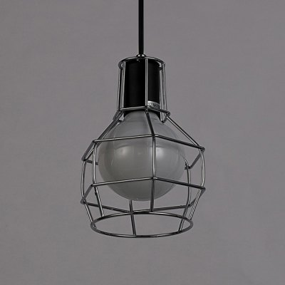 Hanging Pendant Light Iron Wire Caged Guard Lighting FixturePendant Light<br>Hanging Pendant Light Iron Wire Caged Guard Lighting Fixture<br><br>Bulb Base Type: E27<br>Bulb Included: No<br>Function: Commercial Lighting, Home Lighting, Studio and Exhibition Lighting<br>Package Contents: 1 x Wire Lamp Caged Guard, 1 x Pack of Accessories<br>Package size (L x W x H): 17.50 x 17.00 x 23.00 cm / 6.89 x 6.69 x 9.06 inches<br>Package weight: 0.6420 kg<br>Product weight: 0.4550 kg<br>Sheathing Material: Iron<br>Style: Industrial<br>Type: Pendants<br>Voltage (V): AC 220