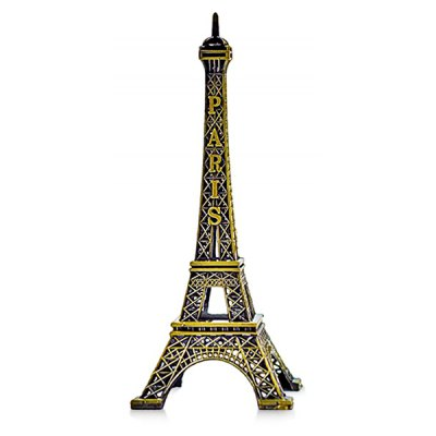 French Eiffel Tower Zinc Alloy Office Desktop Ornament