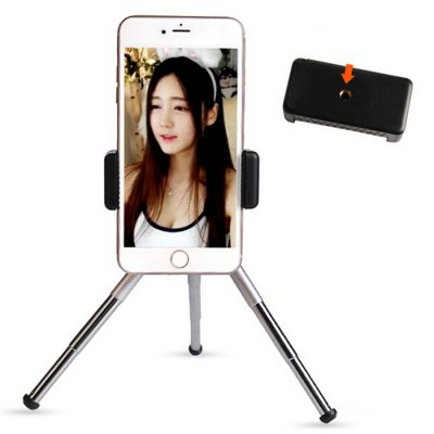 Phone Camera Selfie TripodStands &amp; Holders<br>Phone Camera Selfie Tripod<br><br>Features: Adjustable Stand, Flexible<br>Material: Metal<br>Package Contents: 1 x Tripod Holder<br>Package size (L x W x H): 21.00 x 6.00 x 4.00 cm / 8.27 x 2.36 x 1.57 inches<br>Package weight: 0.1700 kg<br>Product size (L x W x H): 20.00 x 5.00 x 3.00 cm / 7.87 x 1.97 x 1.18 inches<br>Product weight: 0.1500 kg<br>Type: Mount Holder, Mobile Holder