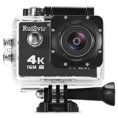RUISVIN V3R 4K UHD WiFi Action Camera Allwinner V3 ChipsetAction Cameras<br>RUISVIN V3R 4K UHD WiFi Action Camera Allwinner V3 Chipset<br><br>Aerial Photography: No<br>Anti-shake: No<br>Application: Extreme Sports, Underwater, Ski<br>Auto Focusing: No<br>Battery Capacity (mAh): 900mAh<br>Battery Type: Removable<br>Brand Name: RUISVIN<br>Camera Timer: Yes<br>Charge way: USB charge by PC<br>Charging Time: 3h<br>Chipset: Allwinner V3<br>Chipset Name: Allwinner<br>Features: Wireless<br>Function: Camera Timer, Remote Control, Waterproof, WiFi<br>Image Format : JPG<br>Max External Card Supported: TF 64G (not included)<br>Microphone: Built-in<br>Model: V3R<br>Night vision : No<br>Package Contents: 1 x 4K Action Camera, 1 x Waterproof Housing + Screw + Mount, 1 x Clip, 1 x Frame, 1 x Bicycle Mount, 1 x J-shaped Mount, 3 x Connector + Screw, 1 x Tripod Adapter + Tripod Mount Adapter, 2 x Mount, 4<br>Package size (L x W x H): 22.50 x 14.20 x 7.50 cm / 8.86 x 5.59 x 2.95 inches<br>Package weight: 0.6470 kg<br>Product size (L x W x H): 5.90 x 4.10 x 2.90 cm / 2.32 x 1.61 x 1.14 inches<br>Product weight: 0.0580 kg<br>Screen: With Screen<br>Screen resolution: 640 x 320<br>Screen size: 2.0inch<br>Standby time: 24h<br>Type: Sports Camera<br>Type of Camera: 4K<br>Video format: MP4<br>Video Frame Rate: 120fps,30FPS,60FPS<br>Video Resolution: 1080P(30fps),1080P(60fps),2.7K (30fps),4K (30fps),720P (120fps),720P (30fps),720P (60fps)<br>Water Resistant: 30m ( with waterproof case )<br>Waterproof: Yes<br>Waterproof Rating : IP68 ( with waterproof case )<br>Wide Angle: 170 degree wide angle<br>WIFI: Yes<br>WiFi Distance : 10m<br>Working Time: 1.5h