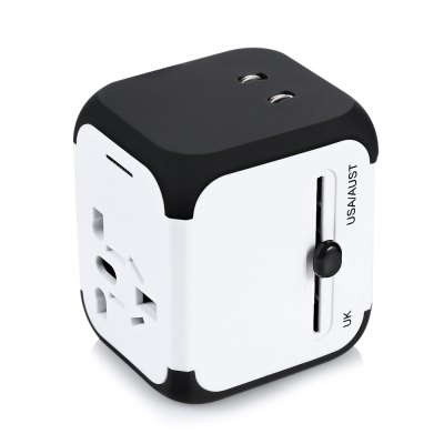 Universal Worldwide Travel Adapter Dual USB Port Charging