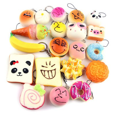 10PCS Slow Rising Soft Squeezing Charms Stress Release ToySquishy toys<br>10PCS Slow Rising Soft Squeezing Charms Stress Release Toy<br><br>Features: Creative Toy<br>Materials: PU<br>Package Contents: 10 x Squeezing Cream Stress Release Toy<br>Package size: 20.00 x 10.00 x 3.00 cm / 7.87 x 3.94 x 1.18 inches<br>Package weight: 0.1000 kg<br>Product size: 3.00 x 3.00 x 3.00 cm / 1.18 x 1.18 x 1.18 inches<br>Product weight: 0.0700 kg<br>Series: Entertainment<br>Theme: Other