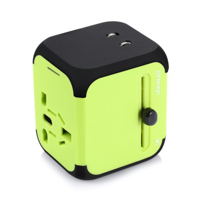 Universal Worldwide Travel Adapter Dual USB Port ChargingCables &amp; Connectors<br>Universal Worldwide Travel Adapter Dual USB Port Charging<br><br>Input Voltage: 110 - 240V<br>Package Contents: 1 x Travel Adapter, 1 x English Manual<br>Package size (L x W x H): 14.00 x 8.00 x 6.00 cm / 5.51 x 3.15 x 2.36 inches<br>Package weight: 0.1640 kg<br>Product size (L x W x H): 6.50 x 5.50 x 4.70 cm / 2.56 x 2.17 x 1.85 inches<br>Product weight: 0.1120 kg<br>Special function: Truly universal<br>Standard: All in One