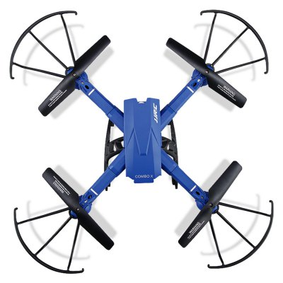 JJRC H38WH COMBO X RC Quadcopter - RTFRC Quadcopters<br>JJRC H38WH COMBO X RC Quadcopter - RTF<br><br>Age: Above 14 years old<br>Battery: 7.4V 400mAh lithium-ion<br>Brand: JJRC<br>Built-in Gyro: 6 Axis Gyro<br>Camera Pixels: 2MP<br>Channel: 4-Channels<br>Charging Time.: 120 minutes<br>Compatible with Additional Gimbal: No<br>Control Distance: 50-100m<br>Detailed Control Distance: About 100m<br>Features: Brushed Version, Radio Control, Camera, WiFi FPV, WiFi APP Control<br>Flying Time: 8-10 mins<br>FPV Distance: 5 - 20m<br>Functions: WiFi Connection, Up/down, Turn left/right, Sideward flight, Air Press Altitude Hold, 3D rollover, Headless Mode<br>Kit Types: RTF<br>Level: Beginner Level<br>Model: H38WH<br>Model Power: Built-in rechargeable battery<br>Motor Type: Brushed Motor<br>Package Contents: 1 x Quadcopter ( Battery Included ), 1 x Transmitter, 1 x Mobile Phone Holder, 2 x Landing Skid, 4 x Propeller Guard, 4 x Spare Propeller, 1 x Screwdriver, 1 x USB Cable<br>Package size (L x W x H): 34.80 x 13.50 x 20.00 cm / 13.7 x 5.31 x 7.87 inches<br>Package weight: 0.9800 kg<br>Product size (L x W x H): 34.00 x 34.00 x 10.50 cm / 13.39 x 13.39 x 4.13 inches<br>Product weight: 0.1705 kg<br>Radio Mode: Mode 2 (Left-hand Throttle),WiFi APP<br>Remote Control: 2.4GHz Wireless Remote Control<br>Sensor: Barometer<br>Size: Large<br>Transmitter Power: 4 x 1.5V AA battery(not included)<br>Type: Outdoor, Quadcopter