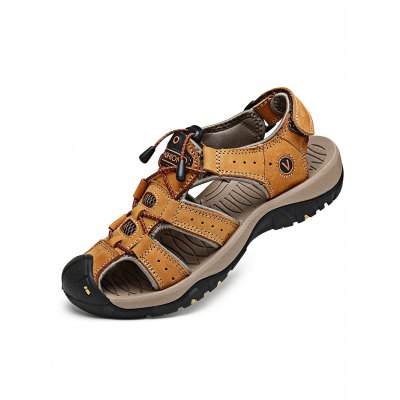 Outdoor Beach Casual Breathable Men SandalsMens Sandals<br>Outdoor Beach Casual Breathable Men Sandals<br><br>Contents: 1 x Pair of Sandals<br>Materials: Leather, Rubber<br>Occasion: Casual<br>Package Size ( L x W x H ): 33.00 x 22.00 x 11.00 cm / 12.99 x 8.66 x 4.33 inches<br>Package Weights: 0.870kg<br>Seasons: Autumn,Spring,Summer<br>Style: Leisure, Fashion, Comfortable<br>Type: Sandals