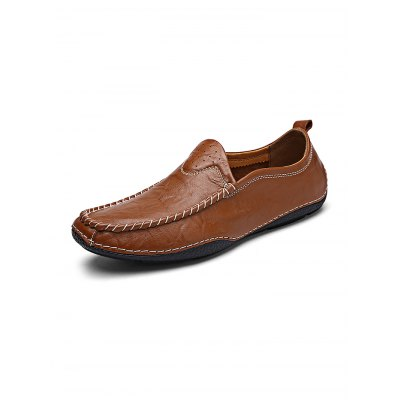 Fashion Hand Stitching Men Soft Leather ShoesCasual Shoes<br>Fashion Hand Stitching Men Soft Leather Shoes<br><br>Contents: 1 x Pair of Shoes<br>Materials: Leather, Rubber<br>Occasion: Casual<br>Package Size ( L x W x H ): 33.00 x 22.00 x 11.00 cm / 12.99 x 8.66 x 4.33 inches<br>Package Weights: 0.870kg<br>Seasons: Autumn,Spring,Summer<br>Style: Leisure, Fashion, Comfortable<br>Type: Casual Shoes
