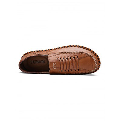 Comfortable Breathable Slip-on Men Leather Knitting ShoesCasual Shoes<br>Comfortable Breathable Slip-on Men Leather Knitting Shoes<br><br>Contents: 1 x Pair of Shoes<br>Materials: Leather, Rubber<br>Occasion: Casual<br>Package Size ( L x W x H ): 33.00 x 22.00 x 11.00 cm / 12.99 x 8.66 x 4.33 inches<br>Package Weights: 0.870kg<br>Seasons: Autumn,Spring,Summer<br>Style: Leisure, Fashion, Comfortable<br>Type: Casual Shoes