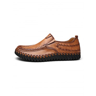 Fashion Hand Sew-up Leather Men Casual ShoesCasual Shoes<br>Fashion Hand Sew-up Leather Men Casual Shoes<br><br>Contents: 1 x Pair of Shoes<br>Materials: Leather, Rubber<br>Occasion: Casual<br>Package Size ( L x W x H ): 33.00 x 22.00 x 11.00 cm / 12.99 x 8.66 x 4.33 inches<br>Package Weights: 0.970kg<br>Seasons: Autumn,Spring,Summer<br>Style: Leisure, Fashion, Comfortable<br>Type: Casual Shoes