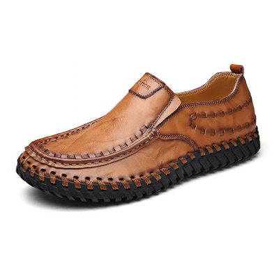 Fashion Hand Sew-up Leather Men Casual Shoes