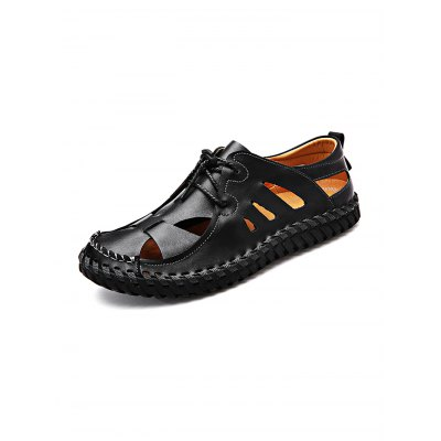 Soft Hollow-out Breathable Lace-up Men Leather Casual ShoesCasual Shoes<br>Soft Hollow-out Breathable Lace-up Men Leather Casual Shoes<br><br>Contents: 1 x Pair of Shoes<br>Materials: Leather, Rubber<br>Occasion: Casual<br>Package Size ( L x W x H ): 33.00 x 22.00 x 11.00 cm / 12.99 x 8.66 x 4.33 inches<br>Package Weights: 0.920kg<br>Seasons: Autumn,Spring,Summer<br>Style: Leisure, Fashion, Comfortable<br>Type: Casual Shoes
