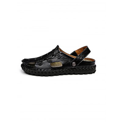 Comfortable Breathable Cowhide Men Slippers SandalsMens Sandals<br>Comfortable Breathable Cowhide Men Slippers Sandals<br><br>Contents: 1 x Pair of Sandals<br>Materials: Leather, Rubber<br>Occasion: Casual<br>Package Size ( L x W x H ): 33.00 x 22.00 x 11.00 cm / 12.99 x 8.66 x 4.33 inches<br>Package Weights: 0.820kg<br>Seasons: Autumn,Spring,Summer<br>Style: Leisure, Fashion, Comfortable<br>Type: Sandals
