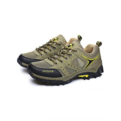 Outdoor Fashion Mesh Lace-up Men Hiking Shoes  fashion designer famous brand air mesh glossy men casual shoes summer outdoor breathable durable lace up unisex fashion shoes