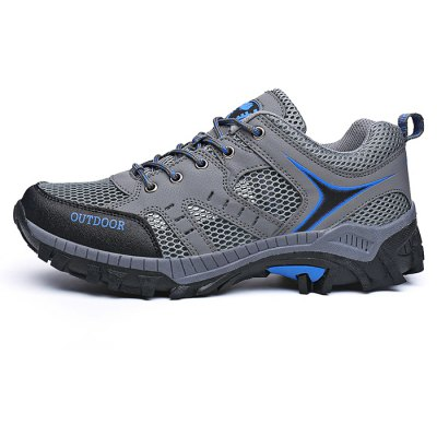 Outdoor Fashion Mesh Lace-up Men Hiking Shoes