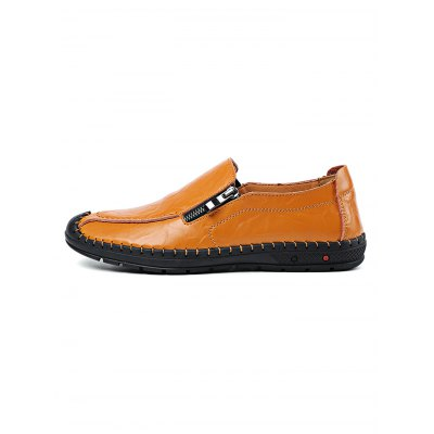Fashion Cowhide Slip on Men Leather ShoesCasual Shoes<br>Fashion Cowhide Slip on Men Leather Shoes<br><br>Contents: 1 x Pair of Shoes<br>Materials: Leather<br>Occasion: Casual<br>Package Size ( L x W x H ): 33.00 x 22.00 x 11.00 cm / 12.99 x 8.66 x 4.33 inches<br>Package Weights: 0.870kg<br>Seasons: Autumn,Spring,Summer<br>Style: Leisure, Fashion, Comfortable<br>Type: Casual Shoes