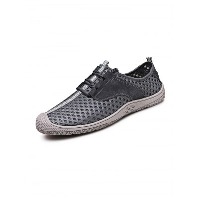 Mesh Leather Breathable Lace-up Men Casual ShoesCasual Shoes<br>Mesh Leather Breathable Lace-up Men Casual Shoes<br><br>Contents: 1 x Pair of Shoes<br>Materials: Leather, Rubber<br>Occasion: Casual<br>Package Size ( L x W x H ): 33.00 x 22.00 x 11.00 cm / 12.99 x 8.66 x 4.33 inches<br>Package Weights: 0.720kg<br>Seasons: Autumn,Spring,Summer<br>Style: Leisure, Fashion, Comfortable<br>Type: Casual Shoes