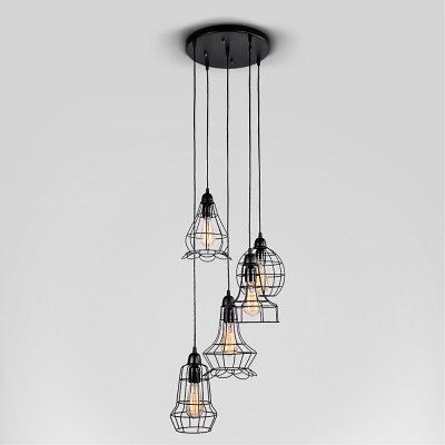 WENTUO QM - 85241 - 5 Iron Pendant Lamp with Light Sources