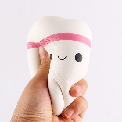 Cute Tooth PU Foam Squishy ToyNovelty Toys<br>Cute Tooth PU Foam Squishy Toy<br><br>Features: Soft<br>Materials: PU<br>Package Contents: 1 x Squishy Toy<br>Package size: 11.00 x 8.00 x 8.00 cm / 4.33 x 3.15 x 3.15 inches<br>Package weight: 0.0600 kg<br>Product size: 10.00 x 7.50 x 7.00 cm / 3.94 x 2.95 x 2.76 inches<br>Product weight: 0.0300 kg<br>Series: Entertainment,Lifestyle<br>Theme: Other