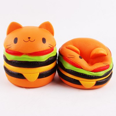 Cute Burger Cat Ultra Soft PU Foam Squishy ToyNovelty Toys<br>Cute Burger Cat Ultra Soft PU Foam Squishy Toy<br><br>Features: Soft<br>Materials: PU<br>Package Contents: 1 x Squishy Toy<br>Package size: 12.00 x 10.00 x 8.00 cm / 4.72 x 3.94 x 3.15 inches<br>Package weight: 0.1300 kg<br>Product size: 11.00 x 9.00 x 6.00 cm / 4.33 x 3.54 x 2.36 inches<br>Product weight: 0.1000 kg<br>Series: Entertainment,Lifestyle<br>Theme: Other