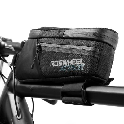 ROSWHEEL 121370 Water-resistant 1.5L Bike Front Tube BagBike Bags<br>ROSWHEEL 121370 Water-resistant 1.5L Bike Front Tube Bag<br><br>Brand: Roswheel<br>Color: Black<br>Emplacement: Front Tube<br>For: Unisex<br>Material: Nylon, TPU<br>Package Contents: 1 x ROSWHEEL 121370 Bike Front Tube Bag<br>Package Dimension: 26.50 x 10.00 x 13.00 cm / 10.43 x 3.94 x 5.12 inches<br>Package weight: 0.2800 kg<br>Product Dimension: 24.50 x 8.00 x 11.00 cm / 9.65 x 3.15 x 4.33 inches<br>Product weight: 0.2060 kg<br>Suitable for: Electric Bicycle, Touring Bicycle, Road Bike