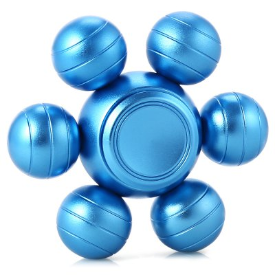 Six-ball Aluminum Alloy ADHD Fidget SpinnerFidget Spinners<br>Six-ball Aluminum Alloy ADHD Fidget Spinner<br><br>Color: Blue<br>Frame material: Aluminum Alloy<br>Package Contents: 1 x Fidget Spinner<br>Package size (L x W x H): 6.90 x 6.90 x 3.10 cm / 2.72 x 2.72 x 1.22 inches<br>Package weight: 0.0800 kg<br>Product size (L x W x H): 5.90 x 5.90 x 2.10 cm / 2.32 x 2.32 x 0.83 inches<br>Product weight: 0.0680 kg