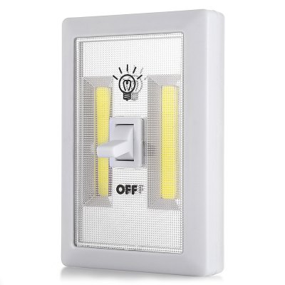 300LM Magnetic COB Cordless Switch Wall LED Night LightOutdoor Lights<br>300LM Magnetic COB Cordless Switch Wall LED Night Light<br><br>Available Light Color: Cool White<br>CCT: 6000-6500K<br>Holder: Other<br>Luminous Flux: 300LM<br>Material: ABS, Magnet<br>Package Contents: 1 x Switch Night Light<br>Package size (L x W x H): 12.00 x 8.00 x 3.50 cm / 4.72 x 3.15 x 1.38 inches<br>Package weight: 0.0960 kg<br>Power Source: AAA<br>Product size (L x W x H): 11.50 x 7.50 x 3.00 cm / 4.53 x 2.95 x 1.18 inches<br>Product weight: 0.0740 kg<br>Wattage: 3W