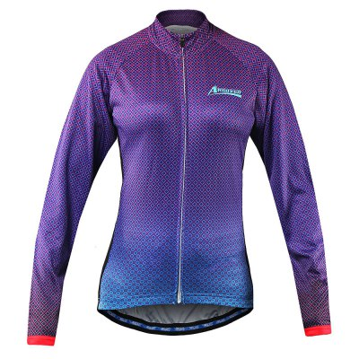 Arsuxeo Female Cycling SuitCycling Clothings<br>Arsuxeo Female Cycling Suit<br><br>Brand: Arsuxeo<br>Feature: Sponge Padded, Quick Dry, Breathable<br>For: Cycling<br>Material: Spandex, Polyester<br>Package Contents: 1 x Arsuxeo Cycling Tops, 1 x Pants<br>Package size (L x W x H): 30.00 x 28.00 x 5.00 cm / 11.81 x 11.02 x 1.97 inches<br>Package weight: 0.5000 kg<br>Product weight: 0.4500 kg<br>Size: L,M,XL<br>Suitable Crowds: Women<br>Type: Long Sleeves Cycling Suit