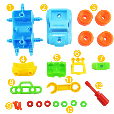 Disassembly SUV Toy for Developing IntelligenceClassic Toys<br>Disassembly SUV Toy for Developing Intelligence<br><br>Appliable Crowd: Unisex<br>Materials: Plastic<br>Nature: Other<br>Package Contents: 1 x Chassis, 1 x Car Cover, 4 x Wheel, 1 x Front Lamp Panel, 1 x Searchlight, 1 x Car Rear Block, 1 x Car Seat, 1 x Anti-collision Frame, 7 x Nut, 2 x Screw, 1 x Handle, 1 x Screwdriver<br>Package size: 15.00 x 12.00 x 11.00 cm / 5.91 x 4.72 x 4.33 inches<br>Package weight: 0.2200 kg<br>Product size: 13.50 x 10.00 x 9.50 cm / 5.31 x 3.94 x 3.74 inches<br>Product weight: 0.1500 kg