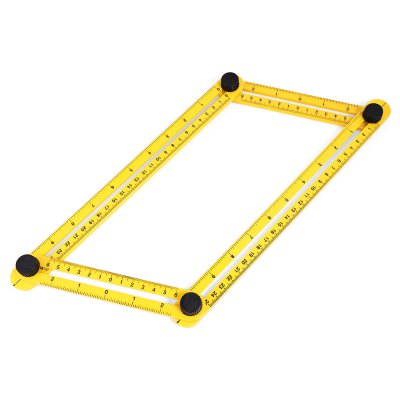 Multi-angle Four-side Plastic DIY Measuring RulerOther Instruments<br>Multi-angle Four-side Plastic DIY Measuring Ruler<br><br>Accuracy  : 0.1cm<br>Color: Yellow<br>Contents: 1 x Measuring Ruler<br>Function: External Diameter<br>Material: Plastic<br>Package size (L x W x H): 35.00 x 6.00 x 3.00 cm / 13.78 x 2.36 x 1.18 inches<br>Package weight: 0.0900 kg<br>Product size (L x W x H): 30.00 x 5.00 x 1.00 cm / 11.81 x 1.97 x 0.39 inches<br>Product weight: 0.0730 kg<br>Type: Vernier caliper