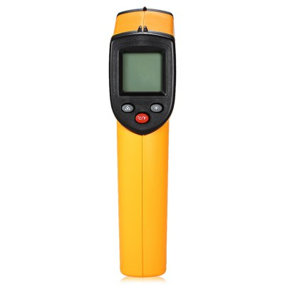 GM320 LCD Display Infrared ThermometerTemperature Instruments<br>GM320 LCD Display Infrared Thermometer<br><br>Battery Type: AAA battery<br>Battery Volatge: 1.5V<br>Certificate: CE<br>Model: GM320<br>Package Contents: 1 x Infrared Thermometer, 1 x English User Manual<br>Package size (L x W x H): 18.50 x 13.00 x 5.00 cm / 7.28 x 5.12 x 1.97 inches<br>Package weight: 0.1070 kg<br>Product size (L x W x H): 14.00 x 7.00 x 3.00 cm / 5.51 x 2.76 x 1.18 inches<br>Product weight: 0.0580 kg<br>Range: -50-380 Degree Celsius,-58-716 Fahrenheit<br>Temperature Type: Fahrenheit, Celsius