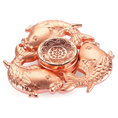 Tri-blade Carp Lotus Pattern Zinc Alloy Fidget SpinnerFidget Spinners<br>Tri-blade Carp Lotus Pattern Zinc Alloy Fidget Spinner<br><br>Color: Rose Gold<br>Frame material: Zinc Alloy<br>Package Contents: 1 x Fidget Spinner, 1 x Box<br>Package size (L x W x H): 9.00 x 9.00 x 2.50 cm / 3.54 x 3.54 x 0.98 inches<br>Package weight: 0.1440 kg<br>Product size (L x W x H): 6.40 x 6.40 x 1.30 cm / 2.52 x 2.52 x 0.51 inches<br>Product weight: 0.0910 kg<br>Swing Numbers: Tri-Bar<br>Type: Triple Blade