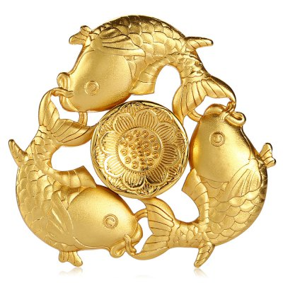 Tri-blade Carp Lotus Pattern Zinc Alloy Fidget SpinnerFidget Spinners<br>Tri-blade Carp Lotus Pattern Zinc Alloy Fidget Spinner<br><br>Color: Gold<br>Frame material: Zinc Alloy<br>Package Contents: 1 x Fidget Spinner, 1 x Box<br>Package size (L x W x H): 9.00 x 9.00 x 2.50 cm / 3.54 x 3.54 x 0.98 inches<br>Package weight: 0.1440 kg<br>Product size (L x W x H): 6.40 x 6.40 x 1.30 cm / 2.52 x 2.52 x 0.51 inches<br>Product weight: 0.0910 kg<br>Swing Numbers: Tri-Bar<br>Type: Triple Blade