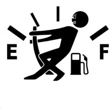 Decal Fuel Gage Empty Funny Vinyl Car Stickers