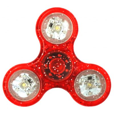 Tri-bar Colorful LED Light Hand Spinner Stress Reliever Toy