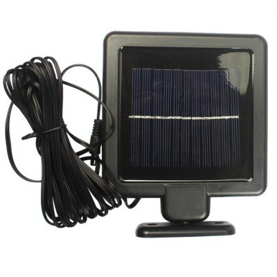 22 LEDs Two Head Highlight Lamp with Solar PanelOutdoor Lights<br>22 LEDs Two Head Highlight Lamp with Solar Panel<br><br>Available Color   : Black<br>Battery Capacity: 1200mAh<br>Battery Voltage: 3.7V<br>Charging Time: 6h<br>Features: Rechargeable, Sensor, Waterproof<br>Light Type: Solar Light<br>Luminous Flux: 450LM<br>Material: ABS<br>Optional Light Color: White<br>Package Contents: 1 x Dual Head Lamp, 1 x Solar Panel<br>Package size (L x W x H): 19.50 x 18.50 x 15.00 cm / 7.68 x 7.28 x 5.91 inches<br>Package weight: 0.6000 kg<br>Powered Source: Solar and Battery<br>Product size (L x W x H): 19.00 x 18.00 x 14.50 cm / 7.48 x 7.09 x 5.71 inches<br>Product weight: 0.2800 kg<br>Rated Power (W): 6W<br>Rated Voltage (V): 2.4V<br>Total LED: 22 LEDs<br>Working Time: above 10h