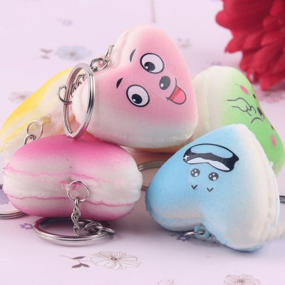 Squishy Heart Shape Macaron PU Foam Key RingSquishy toys<br>Squishy Heart Shape Macaron PU Foam Key Ring<br><br>Color: Orange<br>Materials: PU<br>Package Content: 1 x Squishy Key Ring<br>Package Dimension: 6.50 x 5.50 x 4.00 cm / 2.56 x 2.17 x 1.57 inches<br>Package Weights: 25g<br>Pattern Type: Delicacy<br>Product Dimension: 5.50 x 4.50 x 3.00 cm / 2.17 x 1.77 x 1.18 inches<br>Product Weights: 10g<br>Products Type: Squishy Toy<br>Use: Home Decoration, Art &amp; Collectible