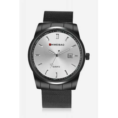 Calendar Wire Belt Quart WatchMens Watches<br>Calendar Wire Belt Quart Watch<br><br>Band material: Stainless Steel<br>Band size: 23.5cm x 2.1cm<br>Brand: Shiweibao<br>Case material: Zinc Alloy<br>Clasp type: Pin buckle<br>Dial size: 3.3cm x 3.3cm<br>Display type: Analog<br>Movement type: Quartz watch<br>Package Contents: 1 x Watch ( with Package Box )<br>Package size (L x W x H): 7.80 x 10.20 x 7.20 cm / 3.07 x 4.02 x 2.83 inches<br>Package weight: 0.1560 kg<br>Product size (L x W x H): 23.50 x 3.30 x 1.10 cm / 9.25 x 1.3 x 0.43 inches<br>Product weight: 0.0660 kg<br>Shape of the dial: Round<br>Special features: Day<br>Watch color: White<br>Watch style: Casual, Cool, Fashion, Business<br>Watches categories: Male table,Men<br>Wearable length: 17cm - 22cm