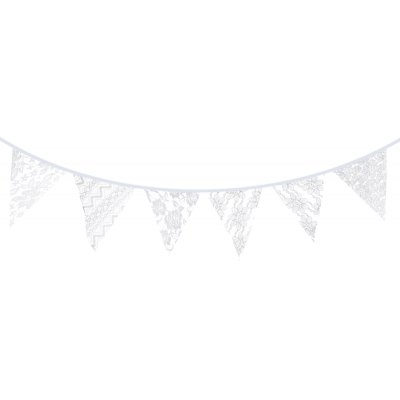 Triangular Lace Flag Banner Bunting Party Hanging Decor