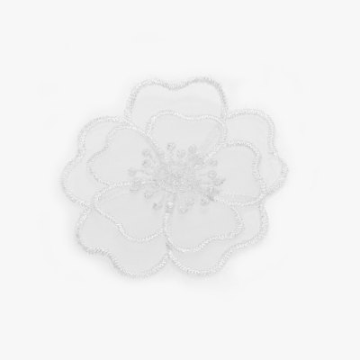 Flower Lace Embroidered Clothes Patch Floral Sewing for Wedding Dress Craft DIY