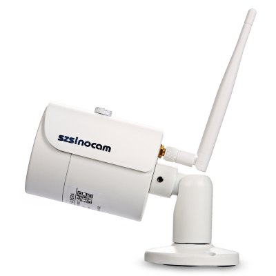 Szsinocam SN - IPC - 4003FCSW20 1080P 2.0MP WiFi IP CameraIP Cameras<br>Szsinocam SN - IPC - 4003FCSW20 1080P 2.0MP WiFi IP Camera<br><br>APP: CamHi<br>Backlight Compensation: Auto<br>Brand: Szsinocam<br>Compatible Operation Systems: Linux,Mac OS,Microsoft Windows 98 / ME / 2000 / XP,Windows 7,Windows 8<br>Environment: Indoor,Outdoor<br>FOV: 90 degree<br>Frame Rate (FPS): 25fps<br>Image Adjustment: Brightness,Color saturation,Contrast,Hue,Sharpness<br>Infrared Distance: 10 - 20m<br>Infrared LED: 36 LEDs<br>IP camera performance: Support video control, Screenshot, Night Vision, Motion Detection, Interphone<br>Language: Danish,Deutsch,Dutch,English,Finnish,French,Itanlian,Japanese,Korean,Polish,Portuguese,Russian,Simplified Chinese,Spanish,Swedish<br>Maximum Monitoring Range: About 10m<br>Minimum Illumination: 0.1 Lux ( IR LED On ) / F 1.2<br>Mobile Access: Android,IOS<br>Model: SN - IPC - 4003FCSW20<br>Motion Detection Distance: Up to 10m<br>Network Port: RJ-45<br>Online Visitor (Max.): 5<br>Operate Temperature (?): 0 - 50 Deg.C<br>Package Contents: 1 x IP Camera, 1 x English User Manual, 1 x Power Adapter ( with 106cm Cable ), 1 x CD, 3 x Screw, 3 x Screw Cap, 1 x Screwdriver, 1 x Antenna<br>Package size (L x W x H): 20.50 x 11.00 x 11.50 cm / 8.07 x 4.33 x 4.53 inches<br>Package weight: 0.5540 kg<br>Pixels: 2MP<br>Product size (L x W x H): 16.50 x 6.50 x 6.50 cm / 6.5 x 2.56 x 2.56 inches<br>Product weight: 0.3140 kg<br>Protocol: DDNS,DHCP,FTP,HTTP,IP,LAN,ONVIF,P2P,RTSP,SMTP<br>Resolution: 1920 ? 1080<br>Sensor: CMOS<br>Sensor size (inch): 1/3<br>Shape: Bullet Camera<br>Technical Feature: Infrared, Waterproof<br>Video Compression Format: H.264<br>Video format: AVI<br>Video Resolution: 1080P<br>Video Standard: NTSC,PAL<br>Waterproof: IP66<br>Web Browser: Firefox,Google Chrome,IE,Microsoft Internet Explorer 6.0 above,Safari<br>White Balance: Auto<br>WiFi Distance : 111<br>Wireless: WiFi 802.11 b/g/n<br>Working Voltage: 12V / 1A