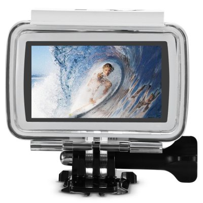 4K Ultra HD Sports DV WiFi Action CameraAction Cameras<br>4K Ultra HD Sports DV WiFi Action Camera<br><br>Anti-shake: Yes<br>Application: Ski, Underwater, Motorcycle, Extreme Sports, Bike, Aerial Photography<br>Audio System: Multitrack<br>Auto Focusing: Yes<br>Battery Capacity (mAh): 1100mAh<br>Battery Type: Removable<br>Camera Timer: No<br>Charge way: USB charge by PC<br>Charging Time: About 6h<br>Chipset: Novatek 96660<br>Chipset Name: Novatek<br>Features: Wireless<br>Function: Anti-Shake, Auto Focusing, Camera Timer, WiFi<br>HDMI Output: Yes<br>Image Format : JPEG<br>Language: English,French,German,Italian,Japanese,Portuguese,Russian,Simplified Chinese,Spanish,Traditional Chinese<br>Lens Diameter: 18mm<br>Loop-cycle Recording : Yes<br>Max External Card Supported: TF 64G (not included)<br>Night vision : No<br>Package Contents: 1 x 4K WiFi Sports Camera, 1 x Waterproof Case + Screw, 1 x Waterproof Case Backdoor, 2 x Helmet Mount, 1 x Bike Handlebar Seatpost Pole Mount, 2 x Mount, 1 x Connector, 4 x Adhesive, 1 x USB Cable (<br>Package size (L x W x H): 14.00 x 23.00 x 8.20 cm / 5.51 x 9.06 x 3.23 inches<br>Package weight: 0.6200 kg<br>Product size (L x W x H): 6.50 x 3.90 x 2.80 cm / 2.56 x 1.54 x 1.1 inches<br>Product weight: 0.0890 kg<br>Screen: With Screen<br>Screen resolution: 240 x 432<br>Screen size: 2.45 inch<br>Standby time: 70min.<br>Time lapse: Yes<br>Type: Sports Camera<br>Type of Camera: 4K<br>Video format: MP4<br>Video Frame Rate: 120fps,24fps,30FPS,60FPS<br>Video Resolution: 1080P (1920 x 1080),2K(2560 x 1440)30fps,4K (3840 x 2160),720P (1280 x 720)<br>Water Resistant: 30m ( with waterproof case )<br>Waterproof: Yes<br>Wide Angle: 170 degree wide angle<br>WIFI: Yes<br>WiFi Distance : 10m<br>Working Time: 68min.