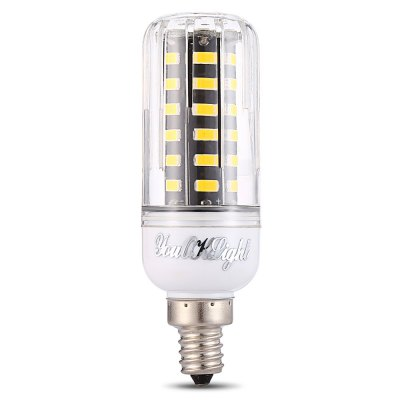 YouOKLight E12 250Lm 42 LEDs 5733 SMD Corn BulbCorn Bulbs<br>YouOKLight E12 250Lm 42 LEDs 5733 SMD Corn Bulb<br><br>Available Light Color: Warm White<br>Brand: YouOKLight<br>CCT/Wavelength: 3000K<br>Emitter Types: SMD 5733<br>Features: Low Power Consumption<br>Function: Home Lighting<br>Holder: E12<br>Luminous Flux: 250Lm<br>Output Power: 5W<br>Package Contents: 1 x YouOKLight E12 SMD Corn Bulb<br>Package size (L x W x H): 4.00 x 4.00 x 10.50 cm / 1.57 x 1.57 x 4.13 inches<br>Package weight: 0.0540 kg<br>Product size (L x W x H): 2.80 x 2.80 x 9.50 cm / 1.1 x 1.1 x 3.74 inches<br>Product weight: 0.0280 kg<br>Sheathing Material: Plastic, Aluminum<br>Total Emitters: 42<br>Type: Corn Bulbs<br>Voltage (V): AC 110-130