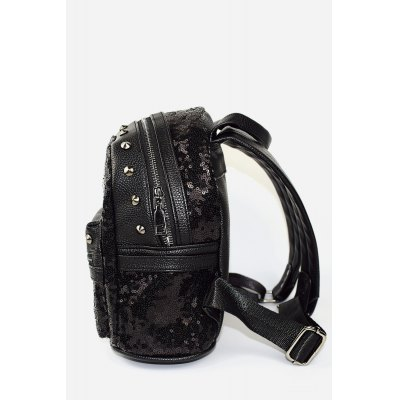 Spike Glossy PU Leather BackpackWomens Bags<br>Spike Glossy PU Leather Backpack<br><br>Closure Type: Zip<br>Material: PU<br>Package Size(L x W x H): 20.00 x 12.00 x 25.00 cm / 7.87 x 4.72 x 9.84 inches<br>Package weight: 0.5300 kg<br>Packing List: 1 x Backpack<br>Product Size(L x W x H): 19.00 x 11.00 x 24.00 cm / 7.48 x 4.33 x 9.45 inches<br>Product weight: 0.4900 kg<br>Style: Fashion, Casual<br>Type: Backpacks