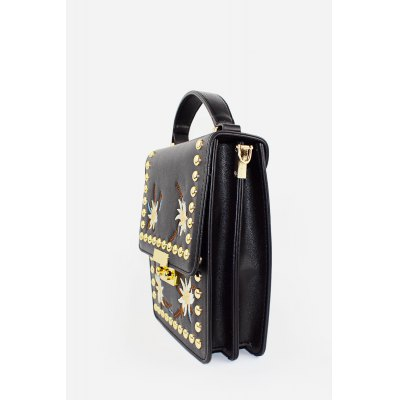 Fashion Printing PU Rivet Women HandbagHandbags<br>Fashion Printing PU Rivet Women Handbag<br><br>Closure Type: Frog Button<br>Material: PU<br>Package Size(L x W x H): 19.00 x 8.00 x 22.00 cm / 7.48 x 3.15 x 8.66 inches<br>Package weight: 0.4300 kg<br>Packing List: 1 x Handbag<br>Product Size(L x W x H): 18.00 x 7.00 x 21.00 cm / 7.09 x 2.76 x 8.27 inches<br>Product weight: 0.4000 kg<br>Style: Fashion, Casual<br>Type: Handbag