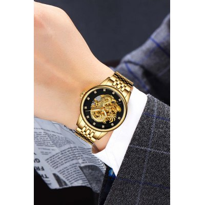 GUANQIN GJ16059 Hollow-out Men Auto Mechanical WatchMens Watches<br>GUANQIN GJ16059 Hollow-out Men Auto Mechanical Watch<br><br>Band material: Stainless Steel<br>Band size: 21 x 2cm<br>Brand: GUANQIN<br>Case material: Stainless Steel<br>Clasp type: Butterfly clasp<br>Dial size: 4.2 x 4.2 x 1.4cm<br>Display type: Analog<br>Movement type: Automatic mechanical watch<br>Package Contents: 1 x Watch, 1 x Box<br>Package size (L x W x H): 15.00 x 10.00 x 3.00 cm / 5.91 x 3.94 x 1.18 inches<br>Package weight: 0.2100 kg<br>Product size (L x W x H): 21.00 x 4.20 x 1.40 cm / 8.27 x 1.65 x 0.55 inches<br>Product weight: 0.1150 kg<br>Shape of the dial: Round<br>Watch mirror: Sapphire<br>Watch style: Hollow-out<br>Watches categories: Men<br>Water resistance : Life water resistant