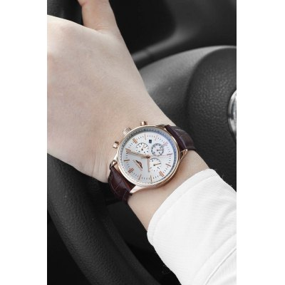 GUANQIN GJ16052 Men Luminous Auto Mechanical WatchMens Watches<br>GUANQIN GJ16052 Men Luminous Auto Mechanical Watch<br><br>Band material: Leather<br>Band size: 20.3 x 2cm<br>Brand: GUANQIN<br>Case material: Stainless Steel<br>Clasp type: Pin buckle<br>Dial size: 4.2 x 4.2 x 1.5cm<br>Display type: Analog<br>Movement type: Automatic mechanical watch<br>Package Contents: 1 x Watch, 1 x Box<br>Package size (L x W x H): 15.00 x 10.00 x 3.00 cm / 5.91 x 3.94 x 1.18 inches<br>Package weight: 0.1700 kg<br>Product size (L x W x H): 20.30 x 4.20 x 1.50 cm / 7.99 x 1.65 x 0.59 inches<br>Product weight: 0.0680 kg<br>Shape of the dial: Round<br>Watch mirror: Sapphire<br>Watch style: Fashion<br>Watches categories: Men<br>Water resistance : Life water resistant<br>Wearable length: 17.5 - 19.5cm