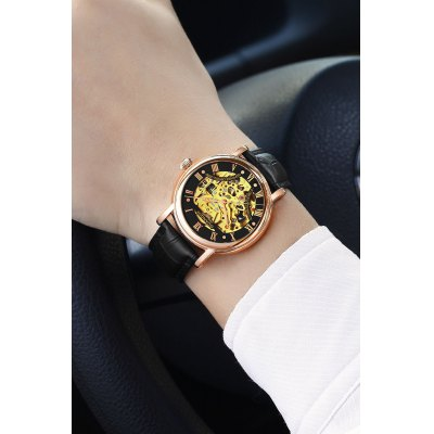 GUANQIN GJ16053 Men Luxurious Auto Mechanical WatchMens Watches<br>GUANQIN GJ16053 Men Luxurious Auto Mechanical Watch<br><br>Band material: Genuine Leather<br>Band size: 20.5 x 2cm<br>Brand: GUANQIN<br>Case material: Stainless Steel<br>Clasp type: Pin buckle<br>Dial size: 4 x 4 x 1.1cm<br>Display type: Analog<br>Movement type: Automatic mechanical watch<br>Package Contents: 1 x Watch, 1 x Box<br>Package size (L x W x H): 15.00 x 10.00 x 3.00 cm / 5.91 x 3.94 x 1.18 inches<br>Package weight: 0.1600 kg<br>Product size (L x W x H): 20.50 x 4.00 x 1.10 cm / 8.07 x 1.57 x 0.43 inches<br>Product weight: 0.0590 kg<br>Shape of the dial: Round<br>Watch mirror: Sapphire<br>Watch style: Hollow-out<br>Watches categories: Men<br>Water resistance : Life water resistant<br>Wearable length: 17.5 - 19.5cm