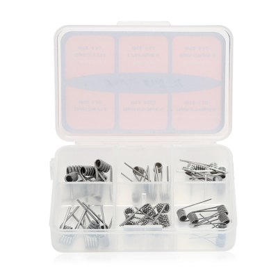36pcs Doctor Coil V2 6 in 1Accessories<br>36pcs Doctor Coil V2 6 in 1<br><br>Material: Stainless Steel<br>Package Contents: 36 x Coil<br>Package size (L x W x H): 8.50 x 5.80 x 2.00 cm / 3.35 x 2.28 x 0.79 inches<br>Package weight: 0.0470 kg<br>Product weight: 0.0270 kg