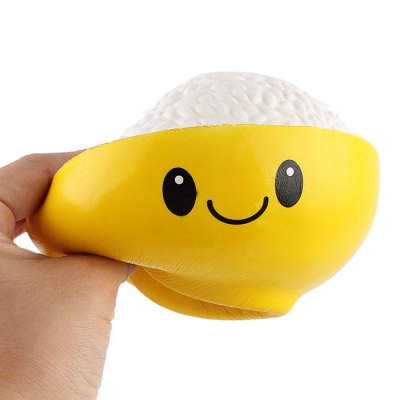 Cartoon Bowl of Rice PU Foam Squishy Toy