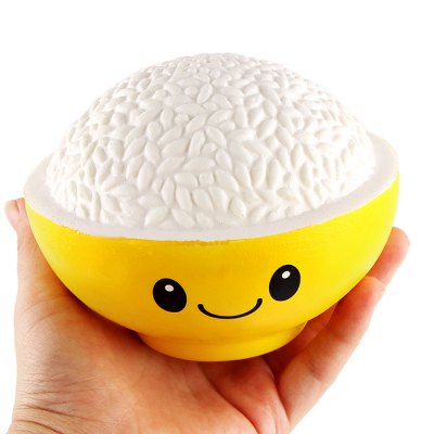 Cartoon Bowl of Rice PU Foam Squishy ToySquishy toys<br>Cartoon Bowl of Rice PU Foam Squishy Toy<br><br>Color: Yellow<br>Materials: PU<br>Package Content: 1 x Squishy Toy<br>Package Dimension: 15.00 x 15.00 x 9.00 cm / 5.91 x 5.91 x 3.54 inches<br>Package Weights: 120g<br>Pattern Type: Delicacy<br>Product Dimension: 12.00 x 12.00 x 8.50 cm / 4.72 x 4.72 x 3.35 inches<br>Product Weights: 90g<br>Products Type: Squishy Toy<br>Use: Home Decoration